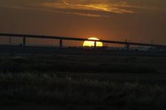 Sunset over Elmley Marshes Stock Photo