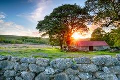 Sunset over Emsworthy Barn Stock Photos