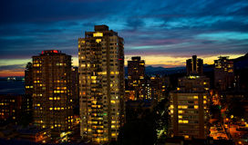 Sunset over English Bay, Vancouver, British Columbia, Canada Royalty Free Stock Photo