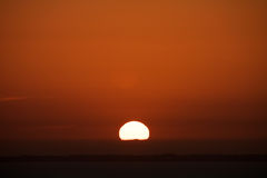Sunset over English Channel Le Mont Saint Michel Coast Line Avranches France Royalty Free Stock Photos