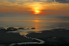 Sunset over English Channel Stock Photography