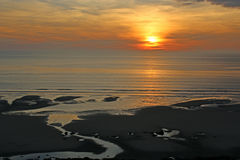 Sunset over the English Channel Royalty Free Stock Photo