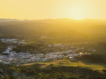 Sunset over Es Mercadal on Minorca Royalty Free Stock Image