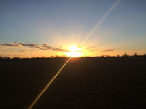 Sunset over Essex in England Royalty Free Stock Image