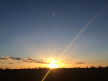 Sunset over Essex in England Royalty Free Stock Photos