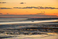 Sunset over estuary Royalty Free Stock Photos