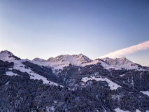 Sunset over European Alps royalty free stock photos