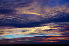 Sunset. Over the fens of Norfolk Stock Photography