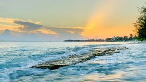 Cemetery Beach-Flat Rock royalty free stock image