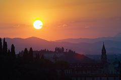 Sunset over Florence Stock Photography