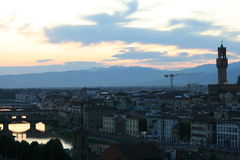 Sunset over Florence Stock Photos