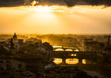 Sunset over Florence Royalty Free Stock Image