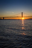 Sunset over the Forth Road Bridge Stock Photo