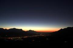 Sunset over Franschhoek Stock Photo