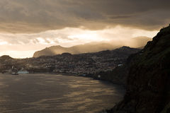 Sunset over Funchal , Madeira Royalty Free Stock Image