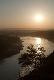 Sunset over The Ganges Stock Photos