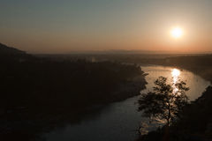 Sunset over The Ganges Royalty Free Stock Photo