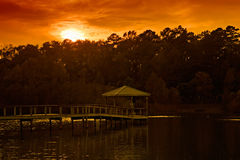 Sunset over Gazebo Stock Photo