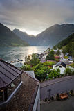 Sunset over Geiranger Fjord Stock Photos