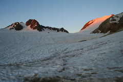 Sunset over glacier Royalty Free Stock Images
