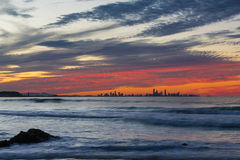 Sunset over Gold Coast Royalty Free Stock Images