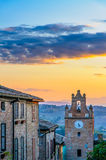 Sunset Over Gradara Royalty Free Stock Photography