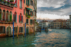 Sunset over Grand Canal in Venice Stock Photography