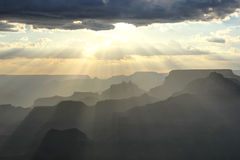 Sunset over the Grand Canyon Stock Photography