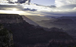 Sunset over the Grand Canyon. Royalty Free Stock Photography