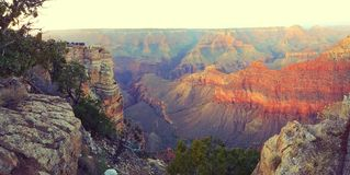 Sunset over Grand Canyon royalty free stock photos