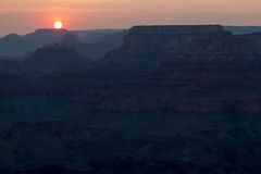 Sunset Over The Grand Canyon #2 stock images