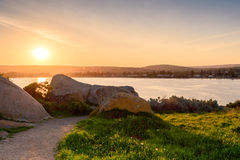 Sunset over Granite Island Stock Images