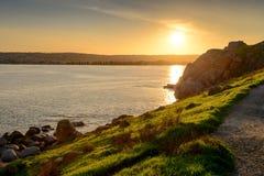 Sunset over Granite Island Stock Photography
