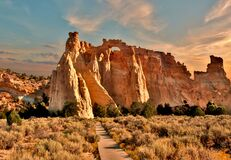 Free Sunset Over Grosvenor Arch In Utah Royalty Free Stock Photos - 178220258