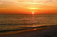 Sunset over the Gulf of Mexico Stock Photos