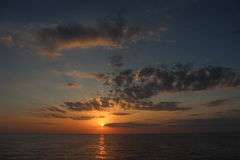 Sunset over the gulf of Mexico Royalty Free Stock Photo