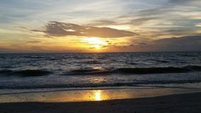 Sunset over the Gulf of Mexico, Florida Royalty Free Stock Image