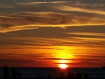 Sunset over the Gulf of Mexico, Florida Royalty Free Stock Photos