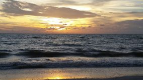 Sunset over the Gulf of Mexico, Florida Royalty Free Stock Images