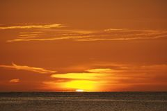 Sunset over the Gulf of Mexico off Captiva Island. Sunset over the Gulf of Mexico on Captiva Island off the west coast of Florida in summer stock image