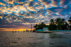 Sunset over the Gulf of Mexico from the Southernmost Point in Ke Royalty Free Stock Image