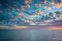 Sunset over the Gulf of Mexico from the Southernmost Point in Ke Royalty Free Stock Photo