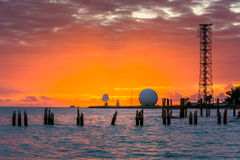 Sunset over the Gulf of Mexico from the Southernmost Point in Ke Stock Photo