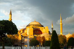Sunset over Hagia Sophia museum Stock Photography