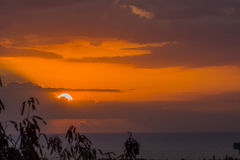 Sunset Over Haiti Stock Photo