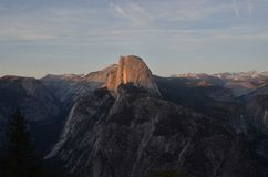 Sunset Over Half Dome Royalty Free Stock Photos