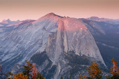 Sunset over Half Dome, Yosemite National Park Stock Images