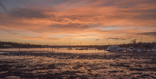 Sunset over the Hamble Stock Photography
