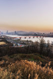 Sunset over han river