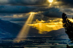 Sunset over Hanmer Springs, NZ Royalty Free Stock Photos
